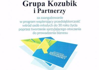 Karta Młodego Przedsiębiorcy-Grupa Kozubik i Partnerzy
