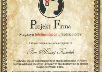 Projekt Firma Maciej Kozubik Grupa Kozubik i Partnerzy