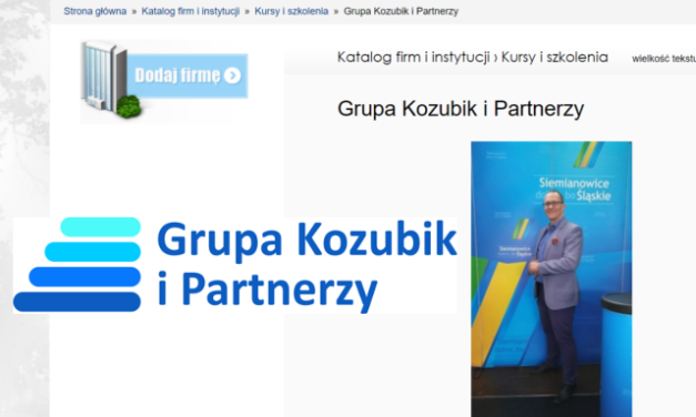 Grupa Kozubik i Partnerzy w katalogu siemianowickich firm
