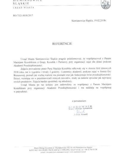 Akademia Przedsiębiorczości GRKP MK zima 2018