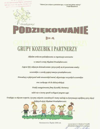 Grupa Kozubik i Partnerzy - Letnia Akademia Przedsiębiorczości 2018