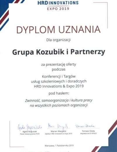 Grupa Kozubik i Partnerzy - HRD EXPO 2019