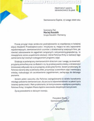 Zimowa Akademia Przedsiębiorczości 2020 GRKP